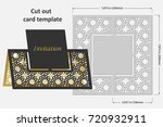 template cards to cut. topper.... | Shutterstock .eps vector #720932911
