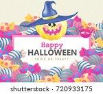 happy halloween design. cute... | Shutterstock .eps vector #720933175