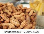 peanut at street food | Shutterstock . vector #720934621