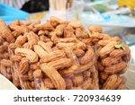 peanut at street food | Shutterstock . vector #720934639
