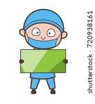 cartoon surgeon holding a... | Shutterstock .eps vector #720938161