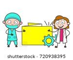 cartoon surgeon and female... | Shutterstock .eps vector #720938395