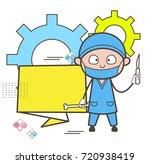 cartoon orthopedic doctor with... | Shutterstock .eps vector #720938419