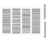 set of four bookmarks. black... | Shutterstock .eps vector #720939229
