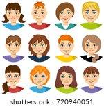 vector teenagers or pupil kids... | Shutterstock .eps vector #720940051