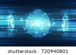 vector abstract human brain on... | Shutterstock .eps vector #720940801