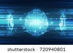 vector abstract human brain on... | Shutterstock .eps vector #720940801