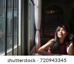 a self portrait asian woman... | Shutterstock . vector #720943345