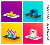 digital marketing vector... | Shutterstock .eps vector #720945289