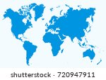 blue world map vector | Shutterstock .eps vector #720947911