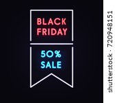 geometric neon vector banner... | Shutterstock .eps vector #720948151