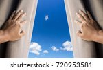 man and hope concept . man... | Shutterstock . vector #720953581