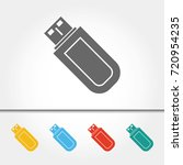 usb storage drive single icon... | Shutterstock .eps vector #720954235