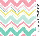 seamless hand drawn zigzag... | Shutterstock .eps vector #720954349