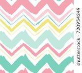 seamless hand drawn zigzag... | Shutterstock .eps vector #720954349