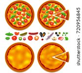 pizza ingredients constructor... | Shutterstock .eps vector #720956845