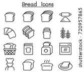 bread  loaf  bakery   pastry...   Shutterstock .eps vector #720957865