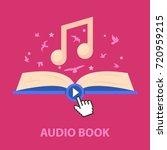 audio book flat concept. vector ... | Shutterstock .eps vector #720959215