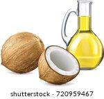 coconut fruit and coconut oil... | Shutterstock .eps vector #720959467