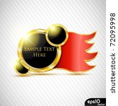 glossy label with red ribbon | Shutterstock .eps vector #72095998