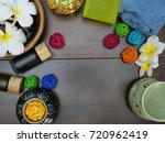 top view of aromatherapy jar ... | Shutterstock . vector #720962419