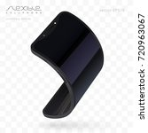 flexible phone realistic mock... | Shutterstock .eps vector #720963067