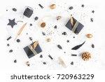 christmas composition.... | Shutterstock . vector #720963229
