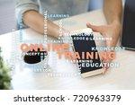 online training on the virtual... | Shutterstock . vector #720963379