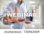 webinar. e learning  online... | Shutterstock . vector #720963409