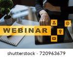 webinar. e learning  online... | Shutterstock . vector #720963679