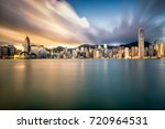 Hong Kong City Skyline At...