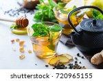 japanese chinese tea teapot...   Shutterstock . vector #720965155
