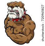 angry dog mascot cartoon. | Shutterstock . vector #720965827