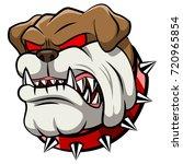 angry bulldog mascot cartoon.... | Shutterstock .eps vector #720965854