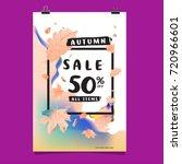 vector autumn sale poster... | Shutterstock .eps vector #720966601