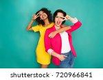 multiethnic friendship and...   Shutterstock . vector #720966841