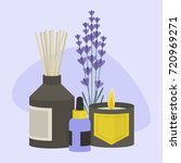 aroma therapy set. a collection ... | Shutterstock .eps vector #720969271