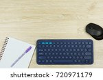 office table with wireless... | Shutterstock . vector #720971179