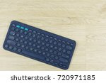 office table with wireless... | Shutterstock . vector #720971185
