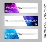 vector abstract banner | Shutterstock .eps vector #720974809
