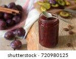 homemade plum jam or confiture... | Shutterstock . vector #720980125
