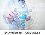 digital marketing technology... | Shutterstock . vector #720980665