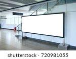 blank billboard in modern... | Shutterstock . vector #720981055
