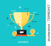 trophy for first place winner... | Shutterstock .eps vector #720982417