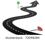 Stop And Go Signs On Curves Of...