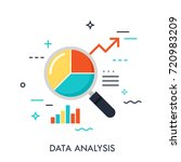 flat design of data analysis... | Shutterstock .eps vector #720983209