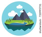 nature and cartoon conpept  ... | Shutterstock .eps vector #720995731