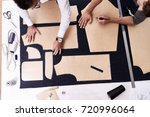 high angle view of concentrated ... | Shutterstock . vector #720996064