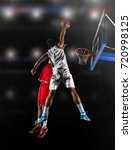basketball game sport player in ... | Shutterstock . vector #720998125