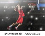 basketball game sport player in ... | Shutterstock . vector #720998131